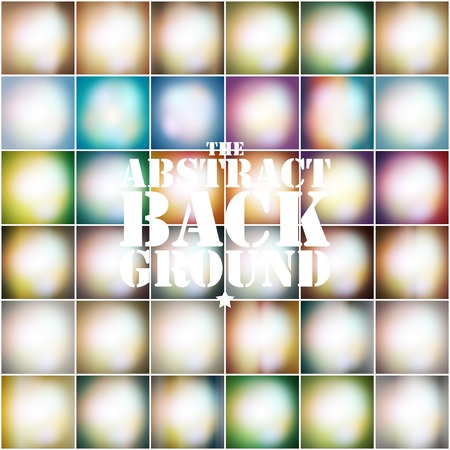 aging process: Set Of Colored Abstract Background vector illustration