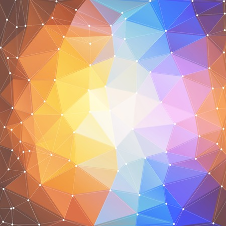 Abstract colored background, triangle design vector illustration. Vector