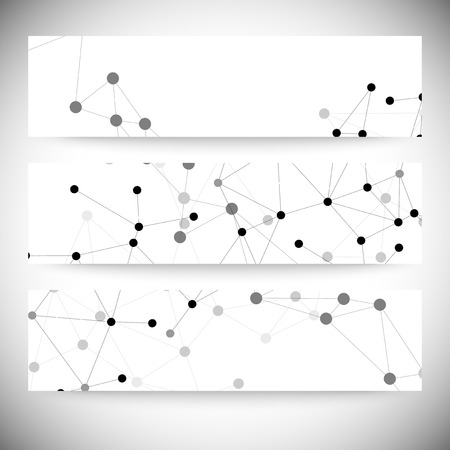 Molecule structure, gray background for communication, vector illustration. Vector