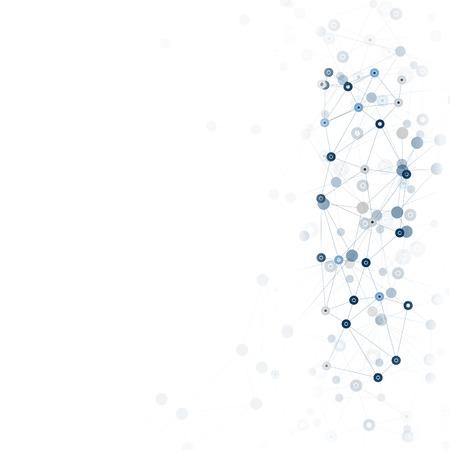 Molecule structure, gray background for communication, vector illustration. illustration