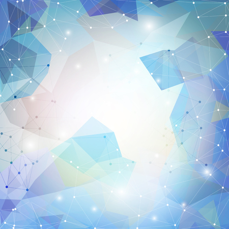 Abstract blue background, triangle design vector illustration. Vector