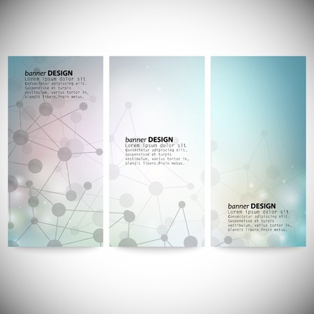 backdrop colorful: Set of vertical banners. Abstract blue background vector illustration.