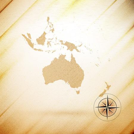 Australia map, wooden design background, vector illustration. Vector