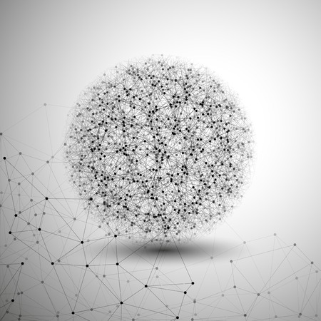 Estructura de la molécula, fondo gris para la comunicación, la ilustración vectorial.