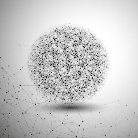 Molecule structure, fond gris pour la communication, illustration vectorielle.