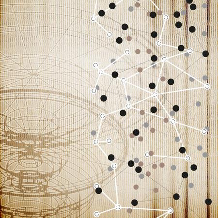 Conceptual design template. Abstract wooden background vector. Vector