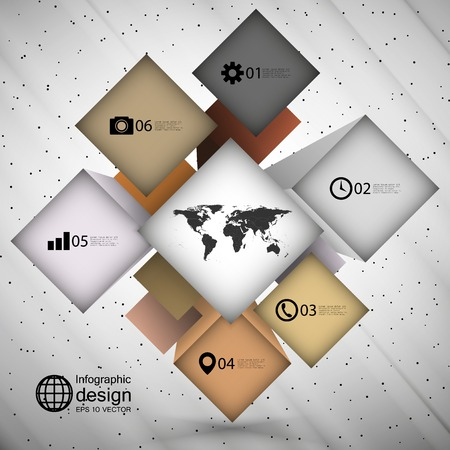 infographic cube box for business concepts, modern template vector. Vector