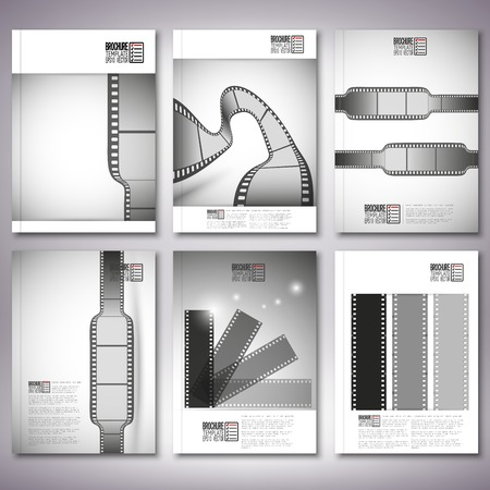 Film strips. Brochure, flyer or report for business, template vector. Vector