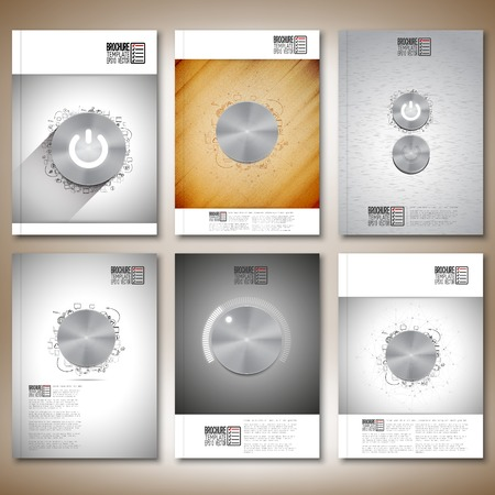 Brochure, flyer or report for business, template vector. Vector