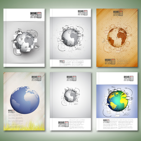 e survey: Doodle design illustration concepts for cooperation. Brochure, flyer or report for business, template vector. Illustration