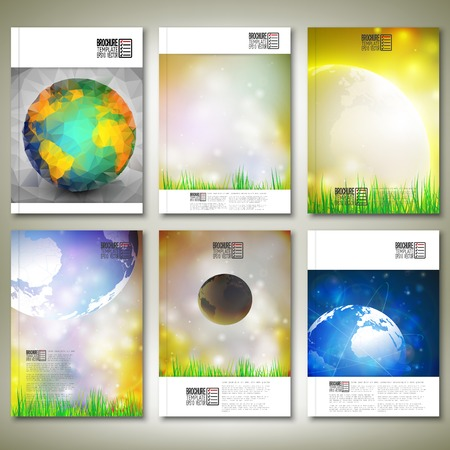 Abstract world globe background. Brochure, flyer or report for business, template vector. Vector