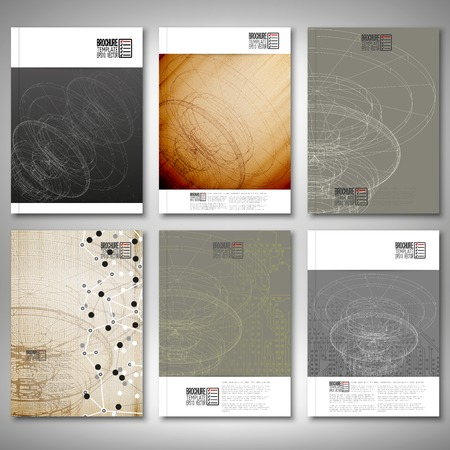 Conceptual design, technology background vector. Brochure, flyer or report for business, template vector. Vector