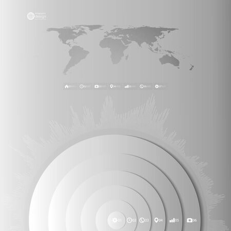 World map template in perspective on gray background for business world map in perspective infographic vector template for business design vector gumiabroncs Choice Image