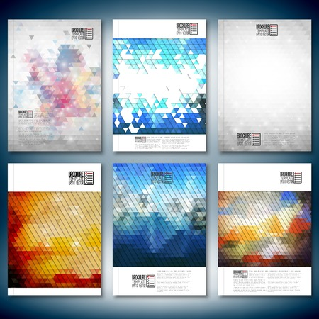 flat background layouts: Abstract colored backgrounds, triangle design vector. Brochure, flyer or report for business, templates vector.