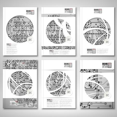 Brochure, dépliant ou un rapport pour les affaires, vecteur modèle Banque d'images - 35001451
