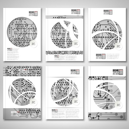 Brochure, flyer or report for business, template vector Vector