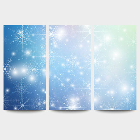 website backgrounds: Winter backgrounds set with snowflakes. Abstract winter design and website templates, abstract pattern vector.