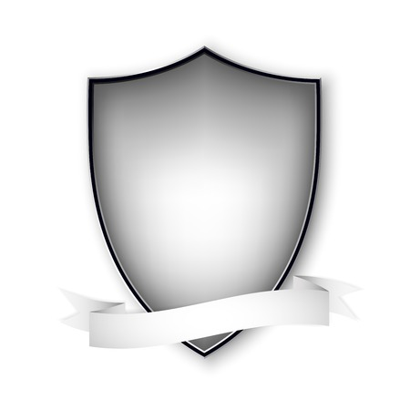 Empty isolated metal shield on white. Vector format. Vector