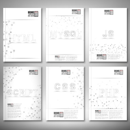 js: Brochure, flyer or report for business, templates vector