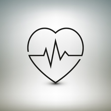 Heart beat icon, healthcare and medical illustration. Vector