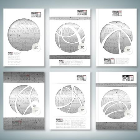 Brochure, flyer of verslag voor zaken, sjabloon