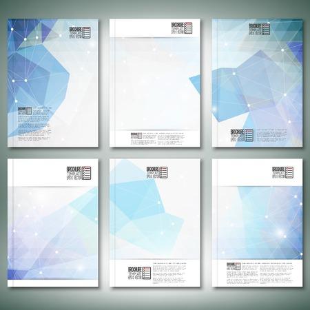 Abstracte blauwe achtergrond. Brochure, flyer of verslag voor het bedrijfsleven, sjablonen vector. Stock Illustratie