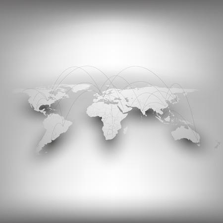 세계지도, 네트워크 연결 개념입니다. 비즈니스 디자인 및 웹 사이트 템플릿에 대한 인포 그래픽.
