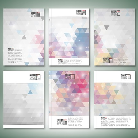 vibrant background: Abstract colored backgrounds, triangle design vector. Brochure, flyer or report for business, templates vector.