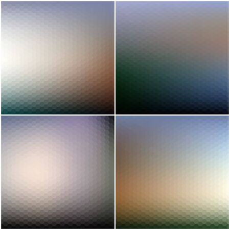backdrop: Abstract blurred backgrounds set. Blurred hexagonal backgrounds set.