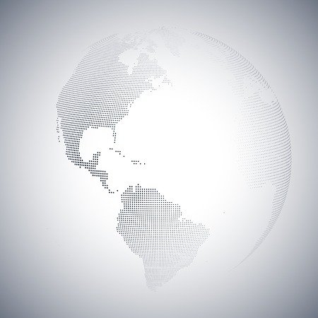 the settlement: Dotted world globe, light design vector illustration. Illustration