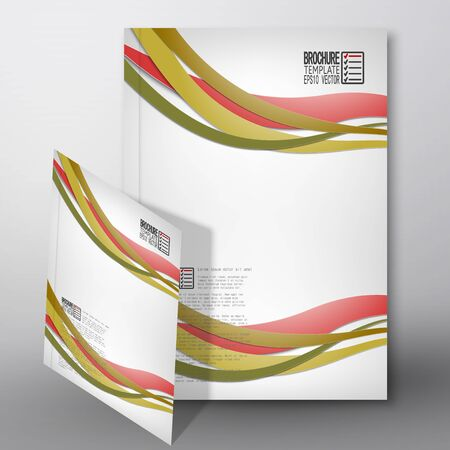 business invitation: Colored wave background. Brochure, flyer or report for business, template vector. Illustration