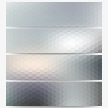 Abstract unfocused natural headers, blurred design vector. Vector