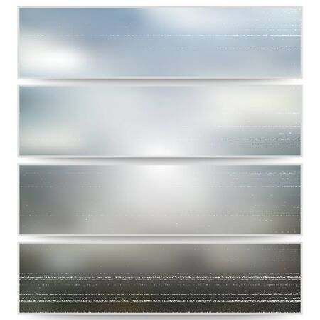 obscurity: Abstract unfocused natural headers, blurred design vector. Illustration