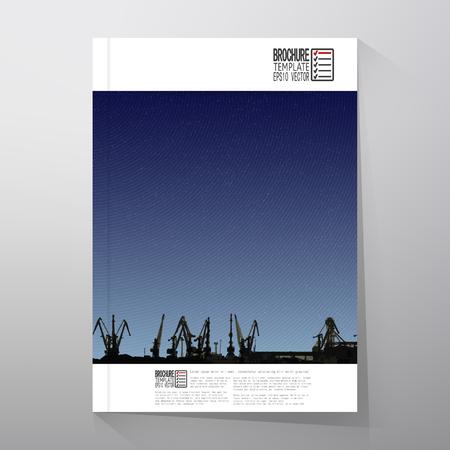 dockyard: Brochure, flyer or report for business, templates vector