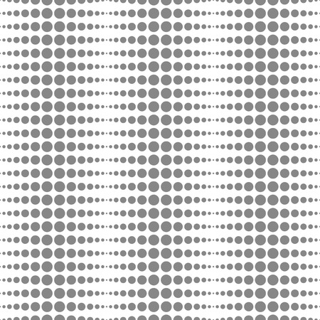 Vector halftone seamless pattern. Abstract dotted black and white background. Vector