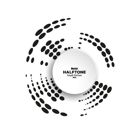 digital printing: Circle halftone vector element for your design. Technology circle with place for text.