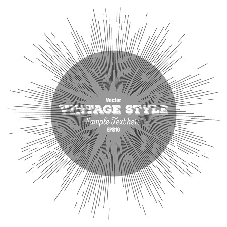 Vintage style star burst, retro style element for your design, vector illustration. Vector