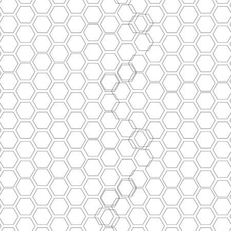 overlapped: Hexagonal seamless pattern. Repeating geometric background with overlapped hexagons.