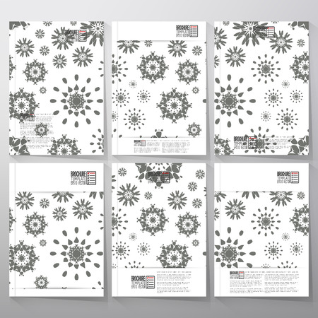 Abstract floral modern stylish geometric background. Simple abstract monochrome texture. Brochure, flyer or booklet for business, tamplate vector. Vector