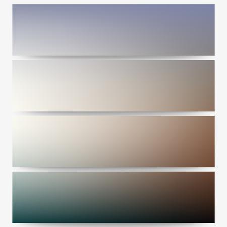 unfocused: Abstract unfocused natural headers set, blurred design vector. Illustration