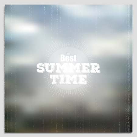 obscurity: Summer time poster, vector web and mobile interface template. Blurred mesh background. Illustration