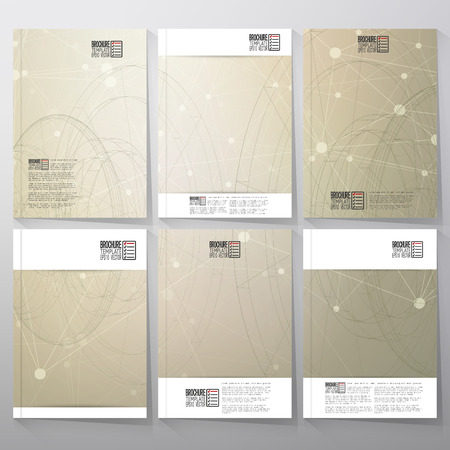 catalog: Technical retro background. Brochure, flyer or booklet for business, template vector.