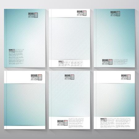 Fond bleu rayé. Brochure, dépliant ou livret pour les affaires, vecteur de modèle.