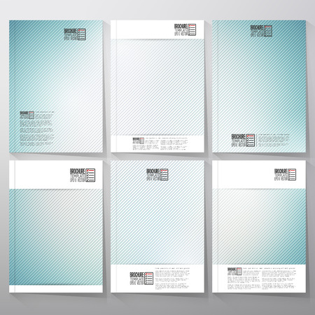 subtle: Striped blue background. Brochure, flyer or booklet for business, template vector.