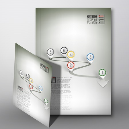 catalog cover: Arrow with pointer marks. Brochure, flyer or report for business, template vector.