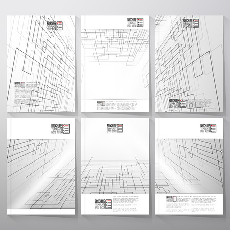 catalog: Technical construction with connected lines and dots. Brochure, flyer or report for business, templates