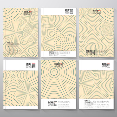 Striped blue background. Brochure, flyer or booklet for business, template