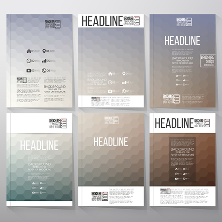 Abstract blurred hexagonal backgrounds. Brochure, flyer or report for business, templates vector. Illustration