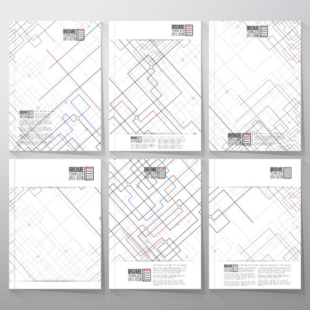 Technical Construction With Connected Lines And Dots. Brochure ...
