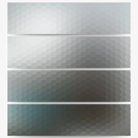 Abstract unfocused natural headers, blurred design vector. Illustration